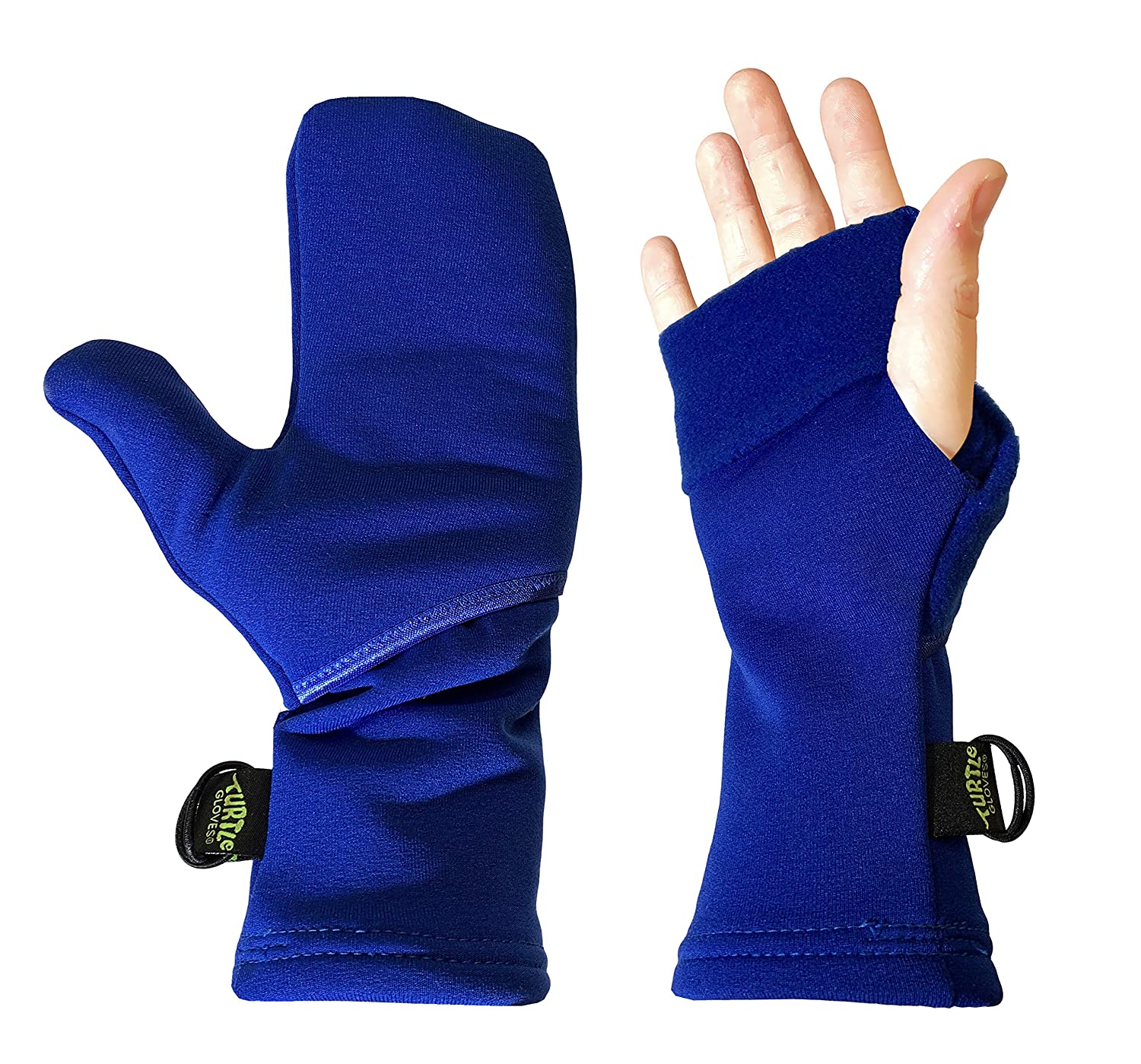Turtle Gloves Midweight Convertible Hardface Running Mittens for Winter