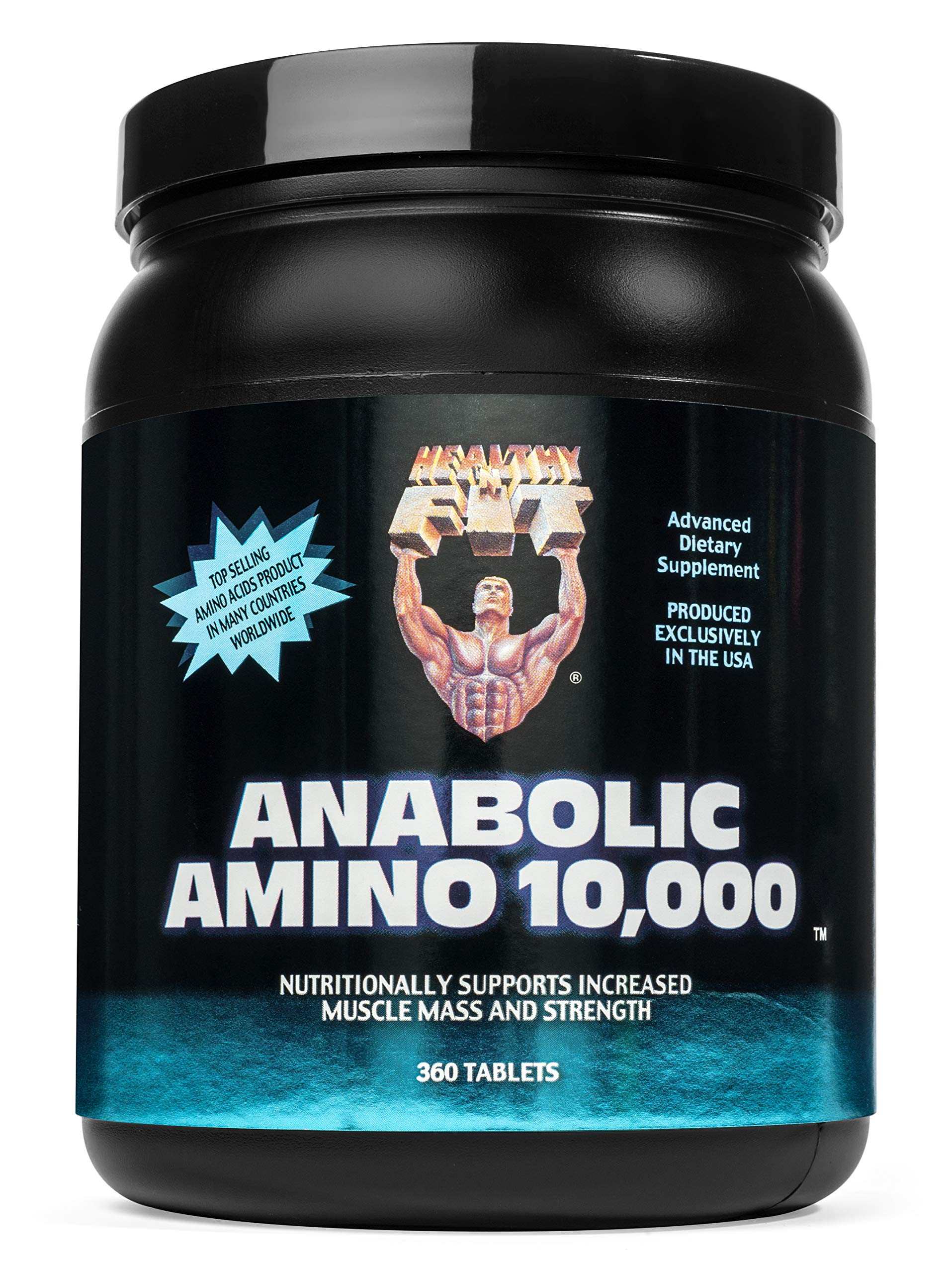 Healthy 'n Fit Anabolic Amino 10000 360t,  Bottle