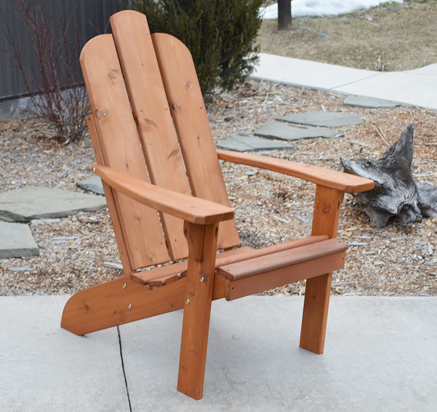 Cedar Wood Adirondack Chair, Amish Made Outdoor Chairs, Weather Resistant  Wooden Patio Deck and Porch Outside Furniture, Modern, Casual & Rustic  Style ...