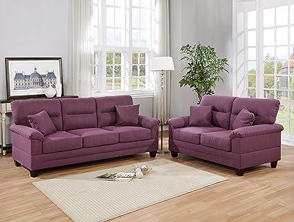 Fantastic Amazon Com Esofastore Living Room Furniture 2Pcs Sofa Set Squirreltailoven Fun Painted Chair Ideas Images Squirreltailovenorg