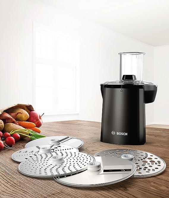 Bosch MUZ9VL1 Set cortador-rallador, accesorio opcional para robots de cocina OptiMUM, Acero y negro: Amazon.es: Hogar
