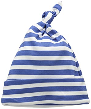 a7f987d49b96f Little Shrimp Newborn Baby Boys Blue Stripe Print Hat in Boat Gift Tin   Amazon.co.uk  Baby