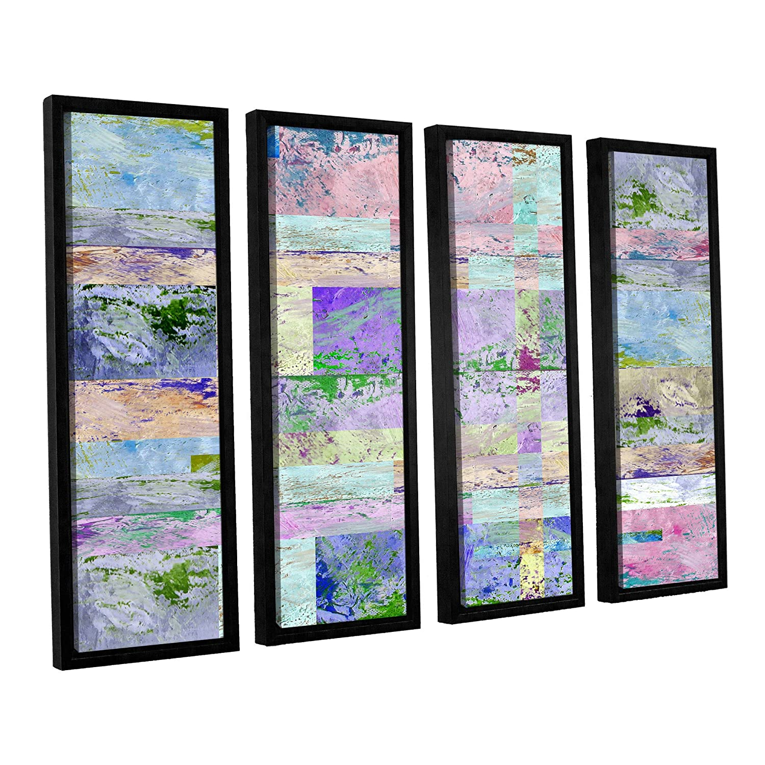 ArtWall 4 Piece Greg Simanson's Abstract I Floater Framed Canvas Set, 36 x 48