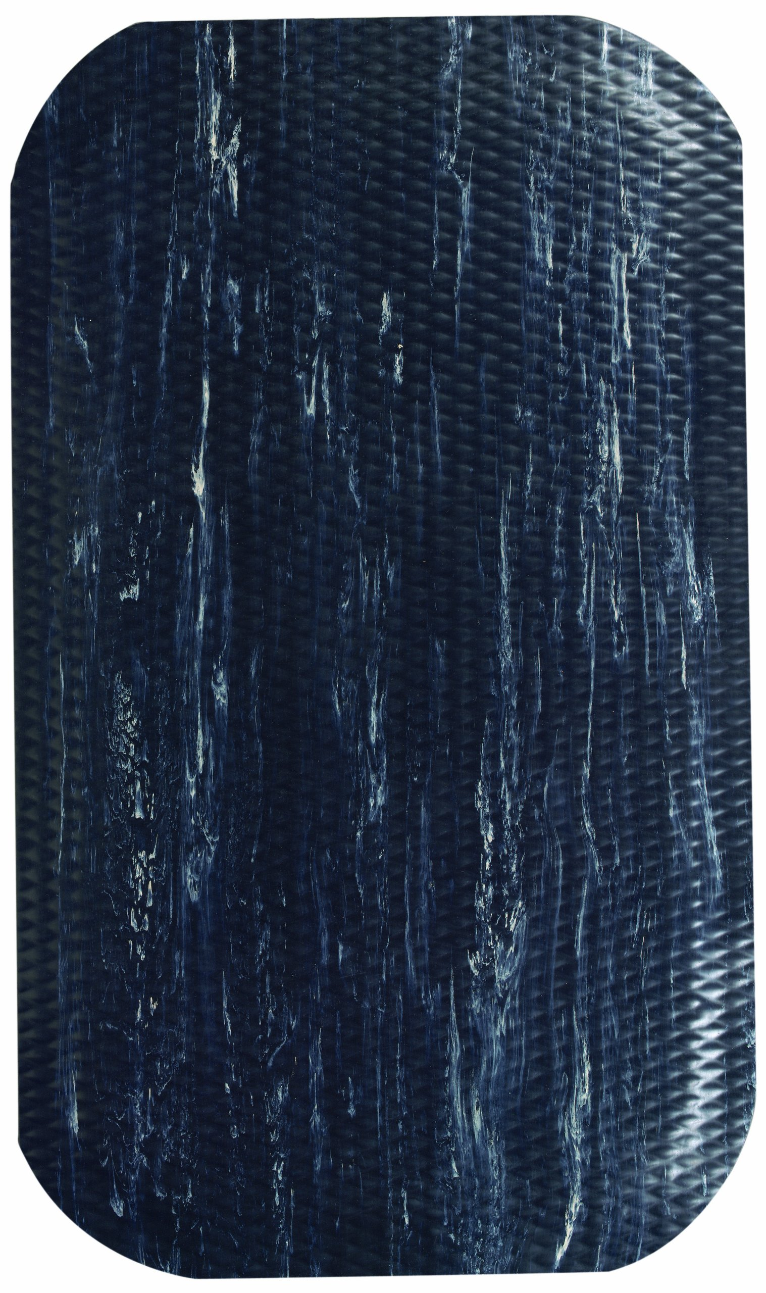 Andersen 449 Hog Heaven SBR/Nitrile Rubber Marble Top Anti-Fatigue Floor Mat, Nitrile/PVC Rubber Cushion Backing, 12' Length x 3' Width, 7/8'' Thick, Midnight Swirl