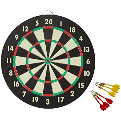 Accudart 2-in-1 Starlite Quality-Bound Paper Dartboard Game Set with Six Included Brass Darts : Board Games : Sports & Outdoors