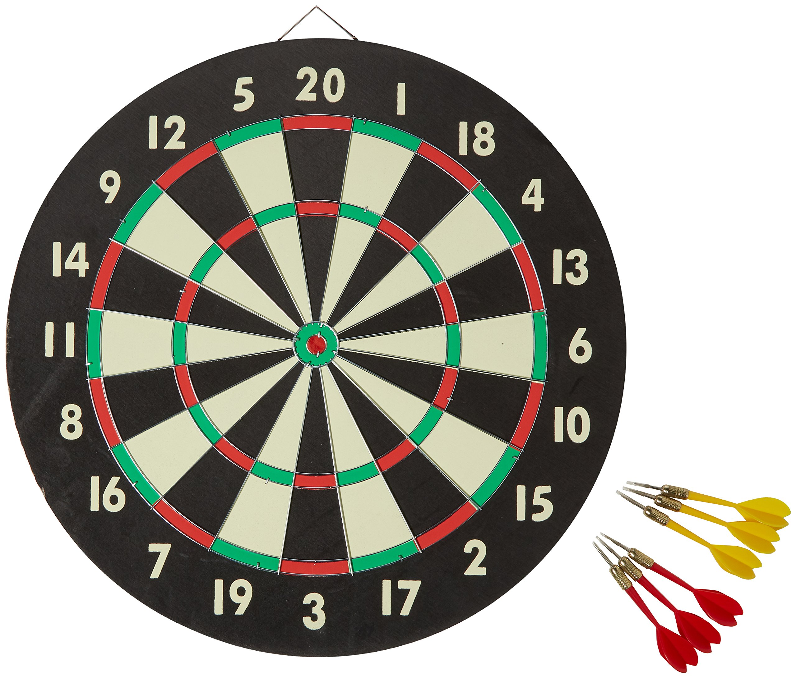 Accudart 2-in-1 Starlite Quality-Bound Paper Dartboard Game Set with Six Included Brass Darts