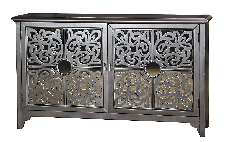 amazoncom pulaski saba credenza 595 by by 3625inch metallic buffets u0026 sideboards - Credenza Furniture