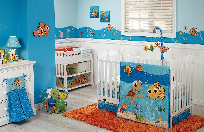 Disney Baby - Finding Nemo 4 Piece Crib Set by Disney   B00NS3DW06