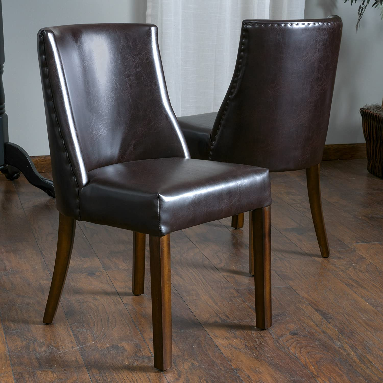 Christopher Knight Home Harman Dining Chair Set Of 2 , Brown