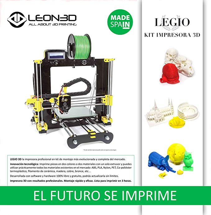 Impresora 3D Leon3D LEGIO Calidad Profesional Color Negro ...