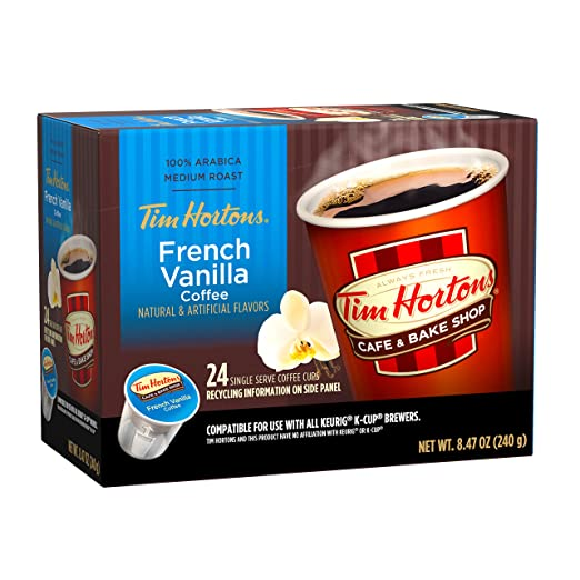 Tim Horton's French Vanilla Blend Coffee Capsule, Compatible with Keurig K- Cup Brewers, 24-Count: Amazon.com: Grocery & Gourmet Food