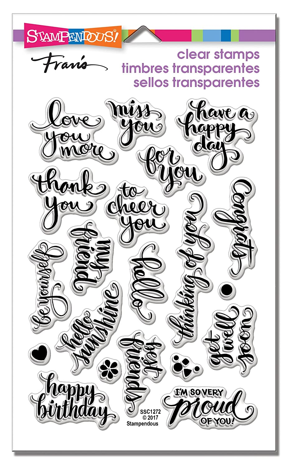STAMPENDOUS Brushed Wishes Perfectly Clear Stamp Set