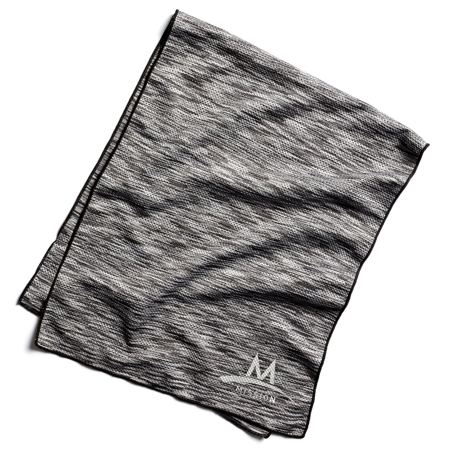 Mission Enduracool Techknit Cooling Towel, Black Space Dye, Large by MISSION (Image #1)