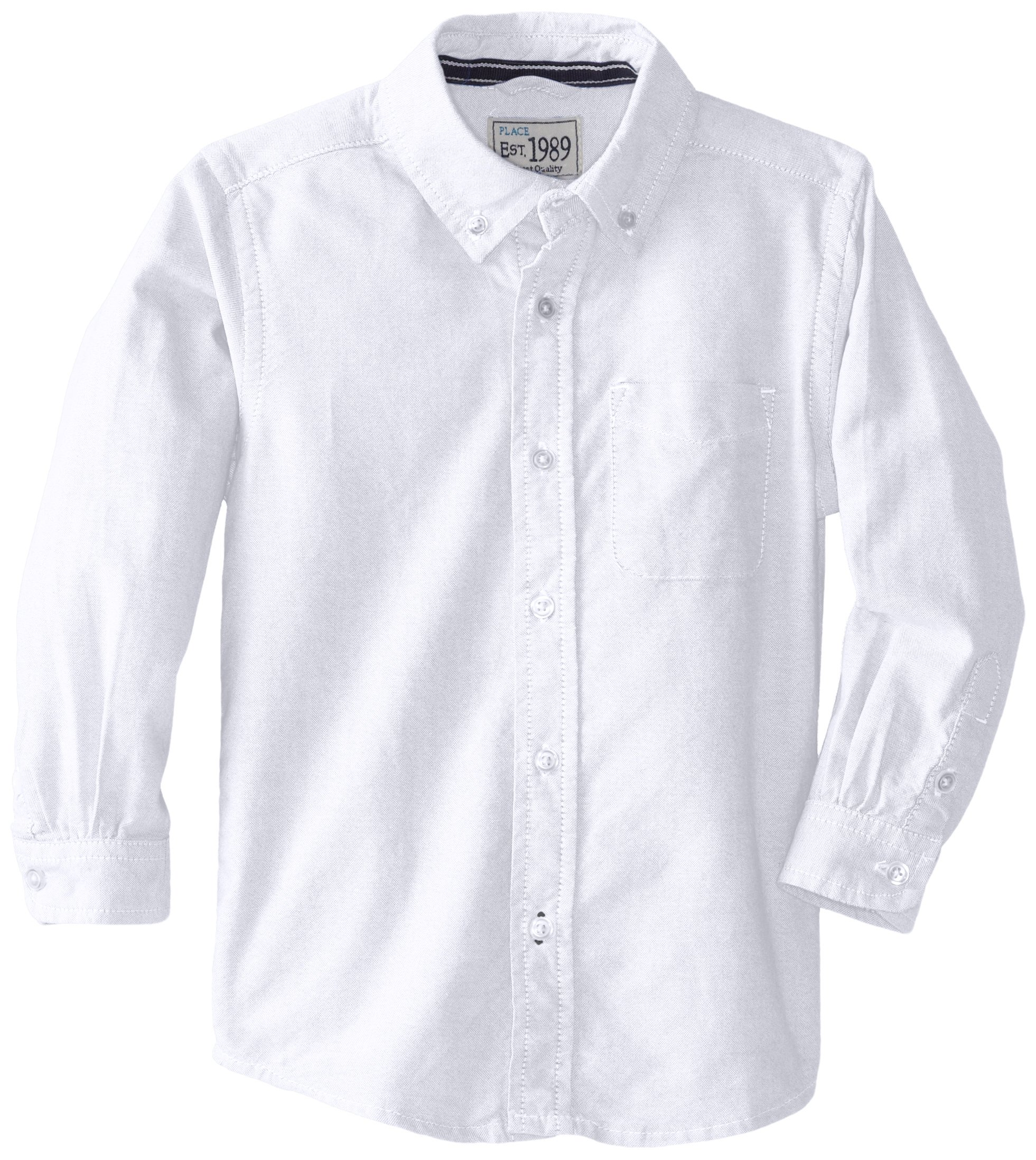 The Children's Place Little Boys and Toddler Dress Shirt, White, 5T