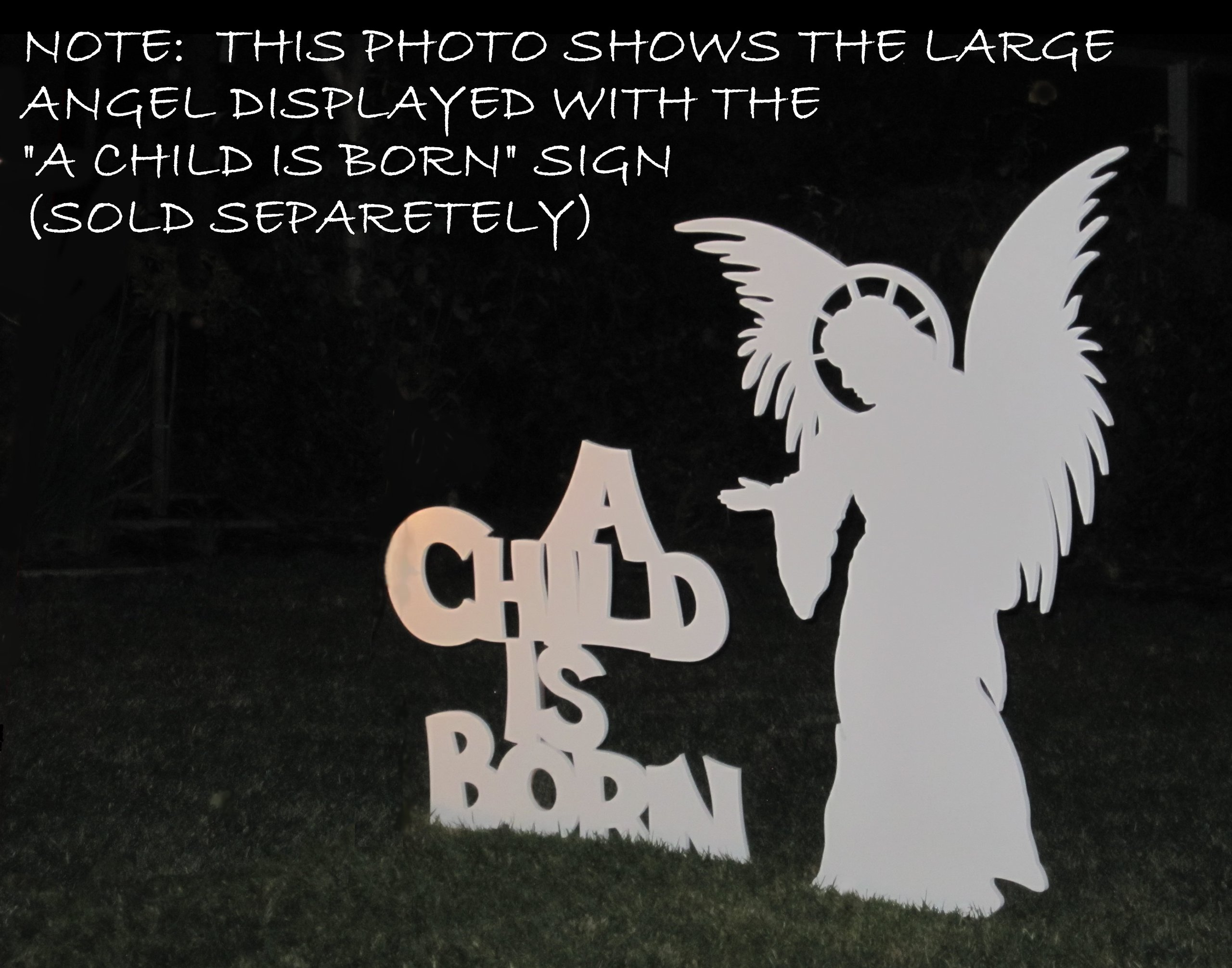 Large Angel for MyNativity Outdoor Nativity Set (3 sizes available)