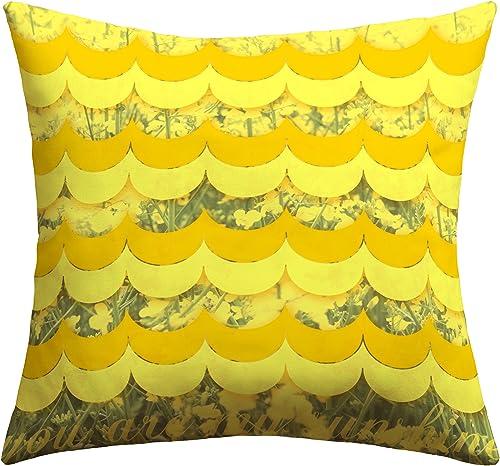 Deny Designs Gabi Sunshine Outdoor Throw Pillow, 18 x 18