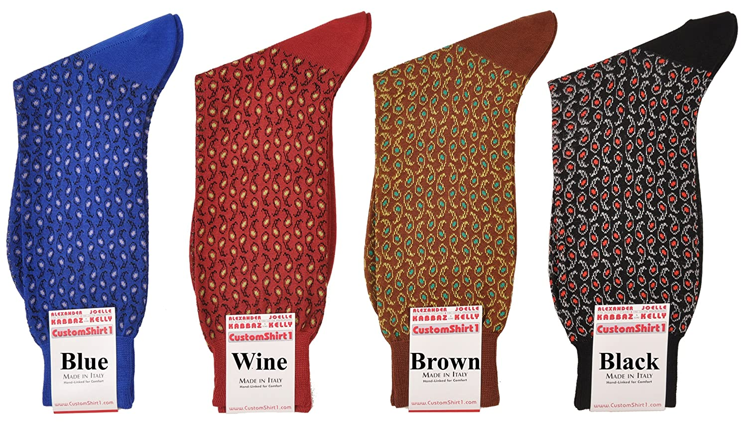 One Pair Mid-Calf Ultimate Paisley Cotton Socks RARE Made In Italy