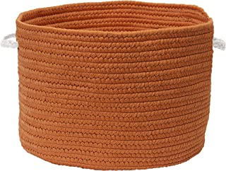 """product image for Colonial Mills Colorful Braided Toy Basket, 20""""x20""""x12"""", Paprika"""