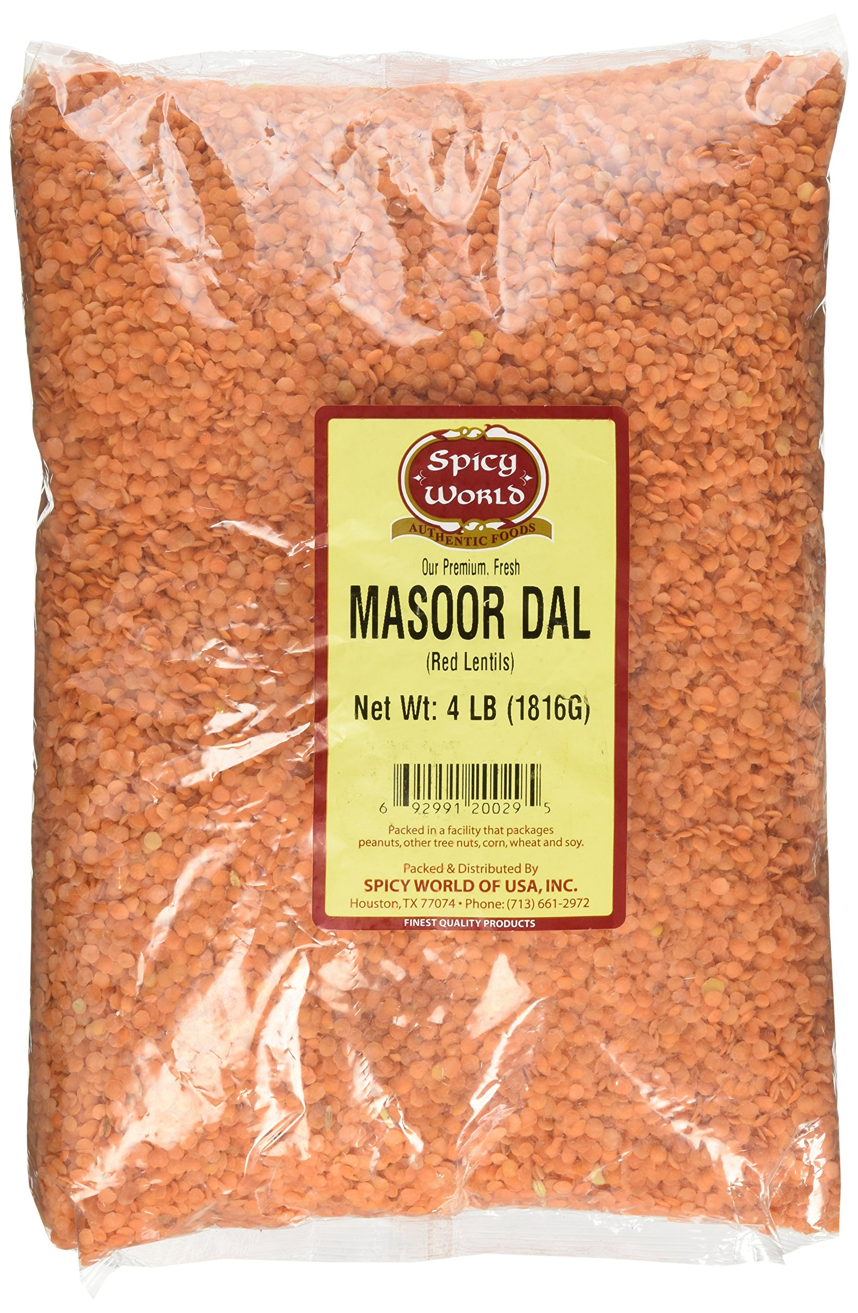 Spicy World Masoor Dal (Indian Red Lentils) 4 Pounds by Spicy World (Image #1)