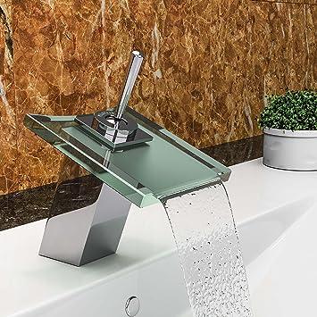 VILSTEIN© Waschtisch Armatur Einhebelmischer Einhand Wasserhahn Mit  Wasserfall Effekt Armatur Für Bad Badezimmer