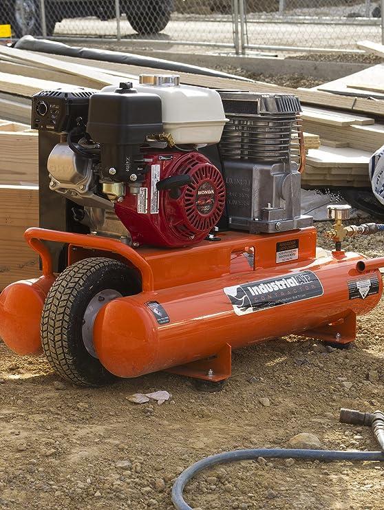 Aire Industrial Contratista ct5590816 8-Gallon grado cinturón Driven carretilla Compresor De Aire con Honda motor: Amazon.es: Bricolaje y herramientas