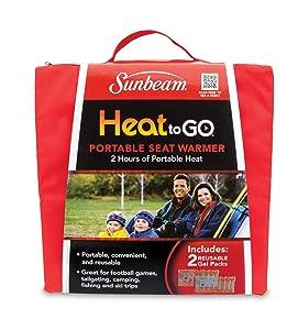 Sunbeam Heat to GO Portable Seat Warmer, Red