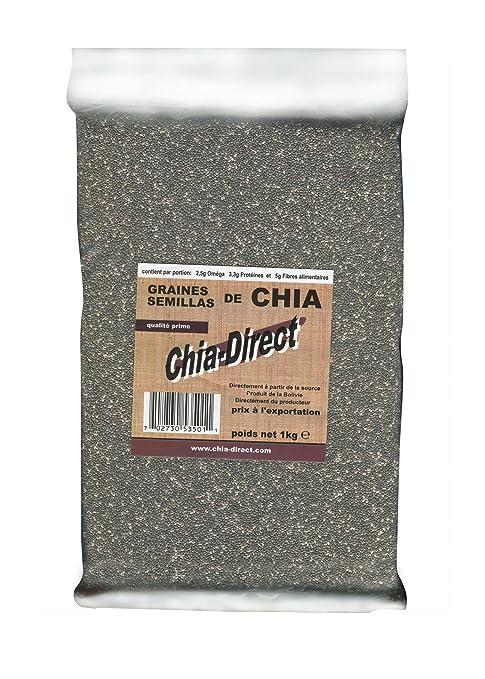 Semillas naturales de chía, sin OGM, libres de pesticidas 1kg ...