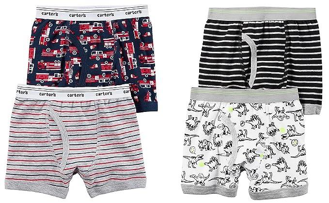 b69354b808e4 Amazon.com  Carters Toddler Boys 4 Pack Cotton boxer Brief Underwear ...