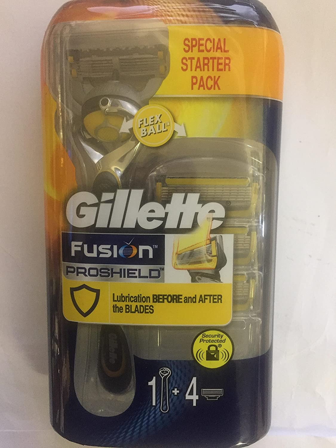 Gillette Fusion Proshield Specisl Starter Pack 1 4 Cartridges