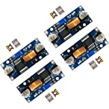 D-PLANET [4-PACK] 5A DC-DC Adjustable Buck Converter 4~38v to 1.25-36v Step Down Power Supply High Efficiency Voltage…