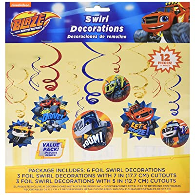 Blaze and the Monster Machines Value Pack Foil Swirl Decorations, Party Favor: Toys & Games