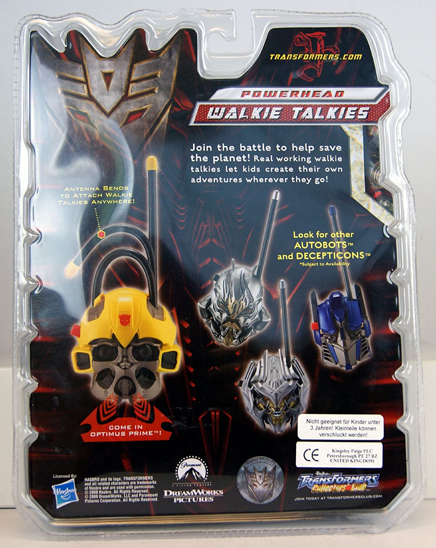 2009 Transformers Revenge Fallen Powerhead Walkie Talkie OPTIMUS PRIME MEGATRON