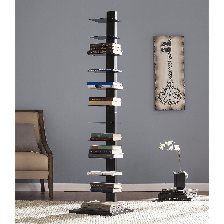 Southern Enterprises Spine Tower Shelf-Black