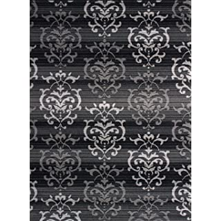 United Weavers of America Dallas Countess Rug - 7ft. 10in. x 10ft. 6in, Grey, Area Rug with Abstract Pattern, Jute Backing