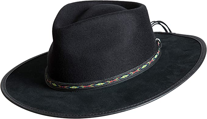 Overland Sheepskin Co Bushwick Wool Felt Western Fedora Hat at ... 900e2c65d79