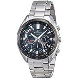 Casio Edifice Efr-570Db-1Avcr, Reloj de Pulsera para Hombre (Correa de Acero Inoxidable de Cuarzo, 22 Relojes), Color Platead