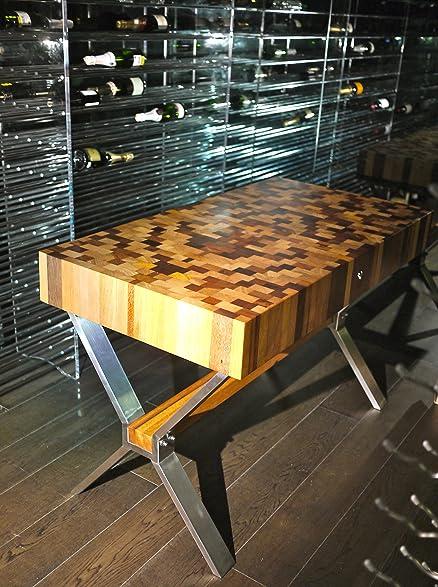 Tree U0026 Co End Grain Butcher Block Table CRUZ Series 6 Inch X 29 Inch X