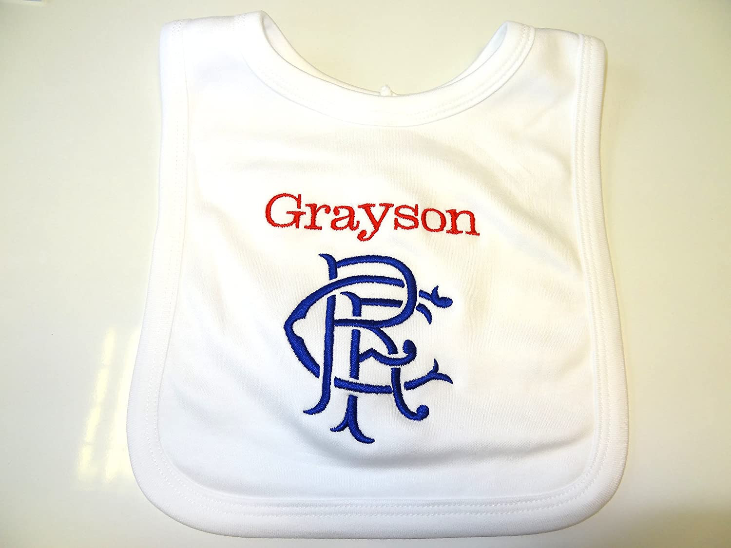 PERSONALISED RFC rangers BIB - BEAUTIFULLY EMBROIDERED - NEXT DAY
