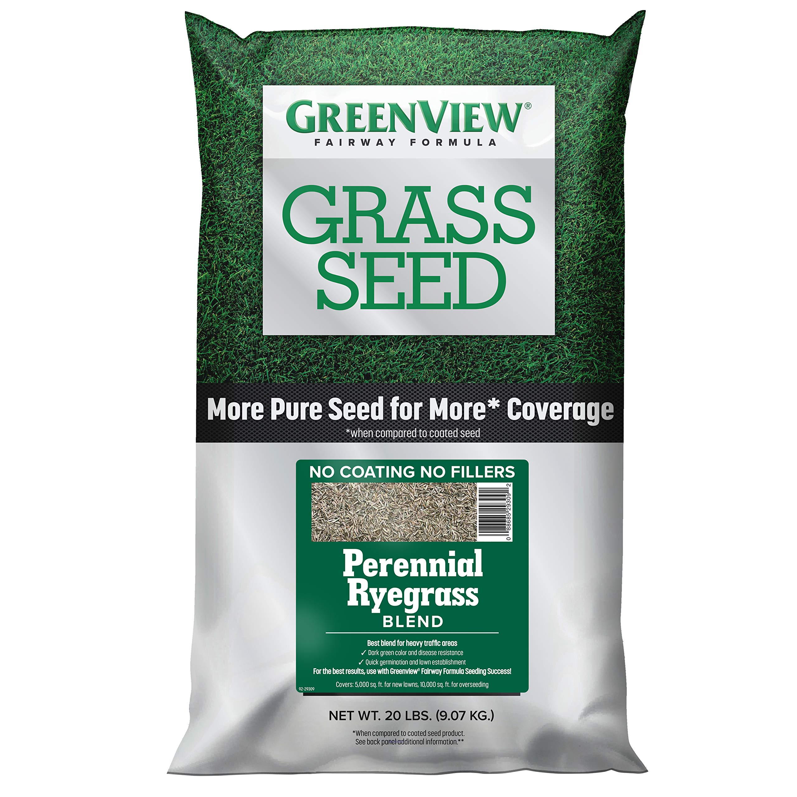 GreenView 2829355 Fairway Formula Grass Seed Perennial Ryegrass Blend, 20 lb.