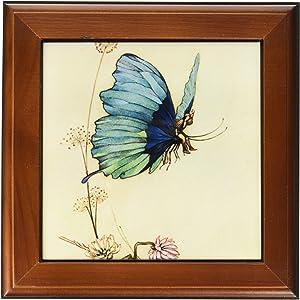 3dRose ft_110172_1 Fairy in The Garden-Vintage Art-Framed Tile, 8 by 8-Inch