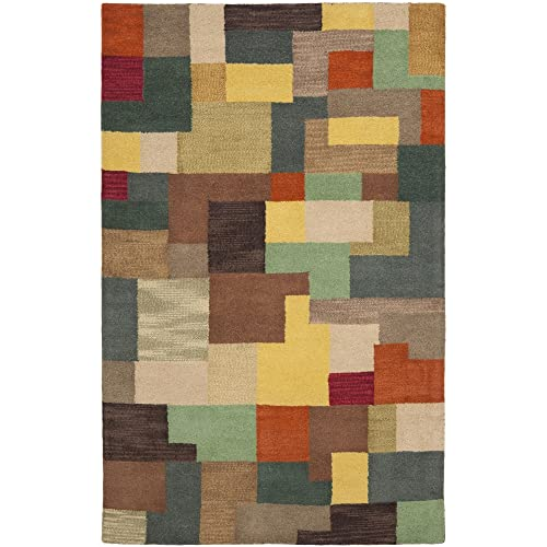 Safavieh Soho Collection SOH923A Handmade Modern Abstract Multicolored Premium Wool Area Rug 5 x 8