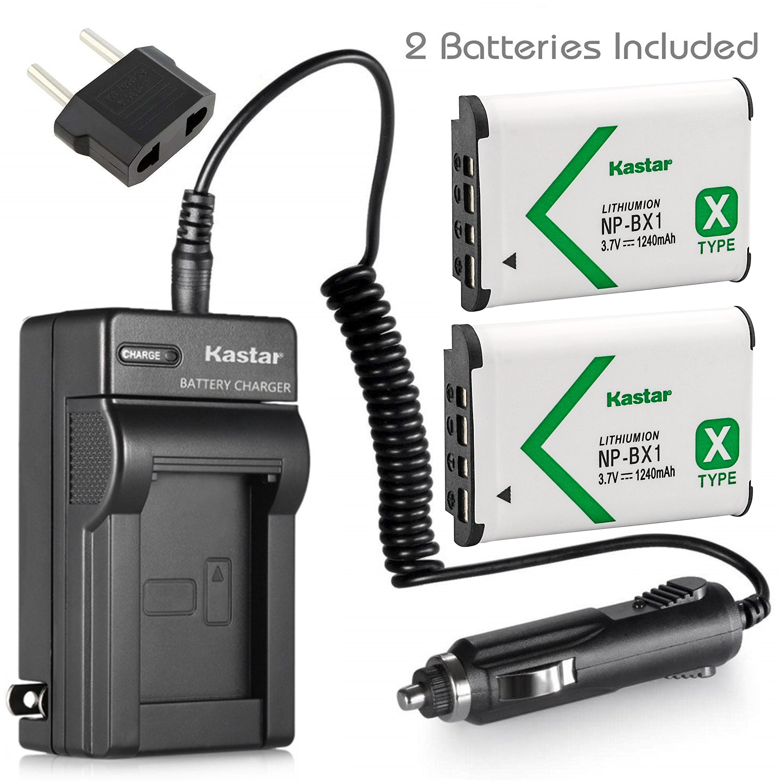 Kastar Battery (2-Pack) and Charger for Sony HDR-CX240 HDR-CX405 HDR-CX440 HDR-PJ240 HDR-PJ270 HDR-PJ405 HDR-PJ410 HDR-PJ440 Handycam Camcorder as NP-BX1 Battery