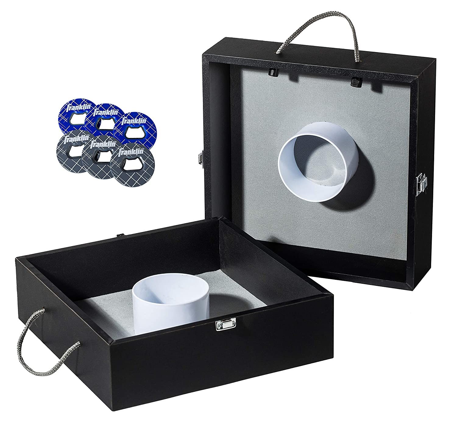 Franklin Sports Washer Toss - Includes 2 Washer Toss Targets and Steel Washers - Easy Carry Handles