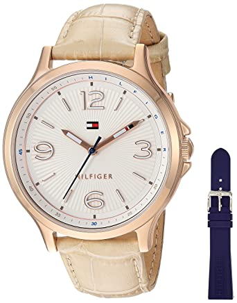 084f107f4 Image Unavailable. Image not available for. Color: Tommy Hilfiger Women's  Quartz Gold and Leather Watch ...