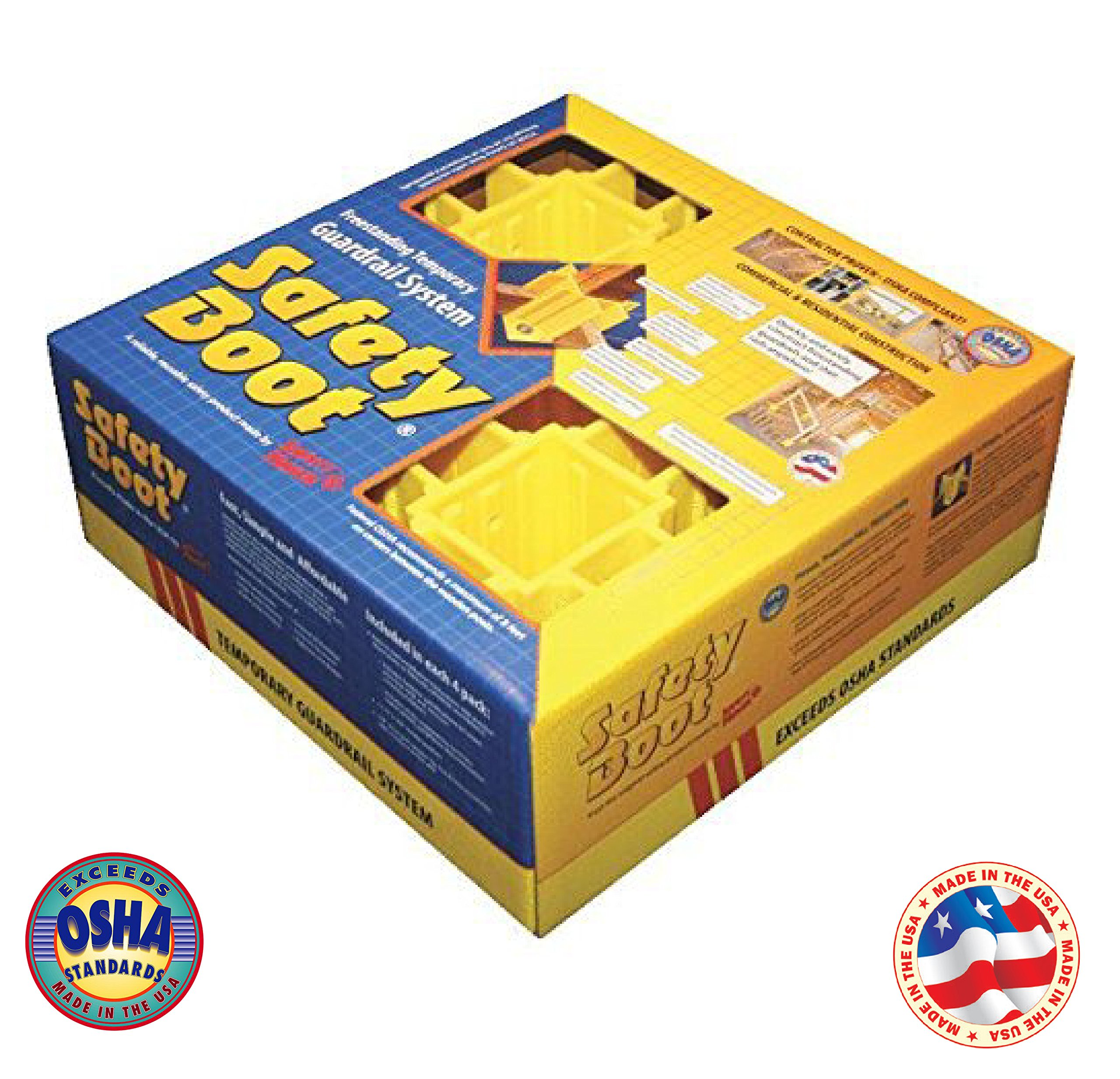 Safety Boot Yellow OSHA Temporary Guard Rail System by Safety Maker (12 Units) by Safety Maker, Inc. (Image #8)
