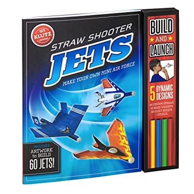Klutz Straw Shooter Jets: Make Your own Mini air Force: The Editors of Klutz: Toys & Games