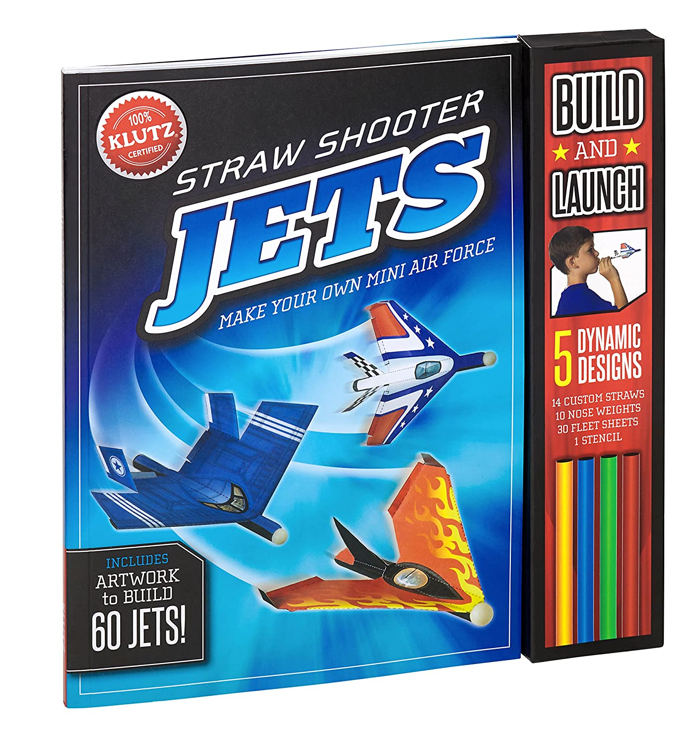 Straw-Shooter Jets Klutz 564779 Crafts & Hobbies Novelty & Activity Books