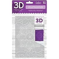 Crafter's Companion EF5-3D-INDS Carpeta de Estampado Repujado 3D