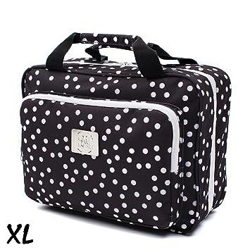 0933285571 Amazon.com   Large Versatile Travel Cosmetic Bag - Perfect Hanging Travel  Toiletry Organizer (XL Polka dot)   Beauty