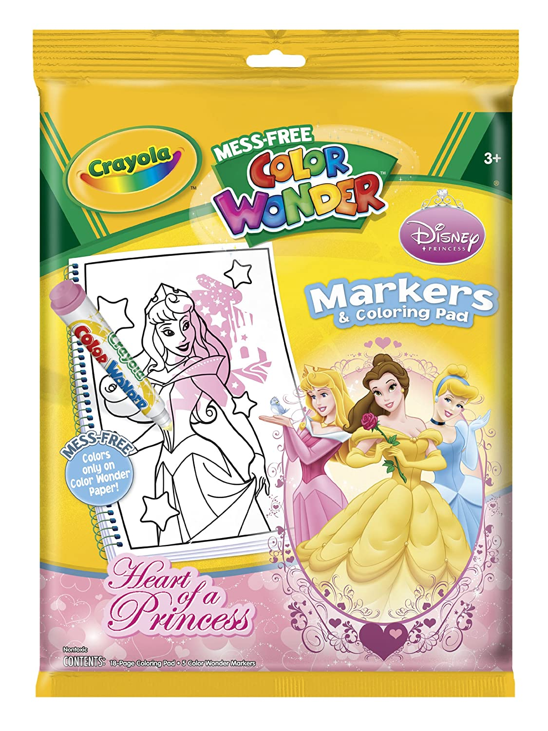 Disney princess coloring pages uk - Crayola Mess Free Color Wonder Disney Princess Markers Coloring Pad Disney Princess Amazon Co Uk Toys Games